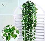 8F ft-6Pack Girlande, künstlicher Efeu Pflanzen Vine Aufhängen Hochzeit Girlande Fake Blattwerk Blumen Home Kitchen Garden Office Hochzeit Wand Decor...