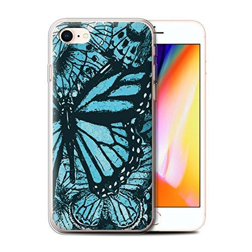 Stuff4 Gel TPU Hülle / Case für Apple iPhone 5/5S / Martini-Glas/Alkohol Muster / Teal Mode Kollektion Schmetterling/Insekt