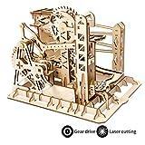 ROKR Maquette Bois Ascenseur Marbre Coaster, Marble Run Mécanique 3D Bois Puzzle Construction Kits...