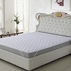 "Signature Waterproof Dustproof Single Bed Mattress Protector (Single Size""78x36"") White"