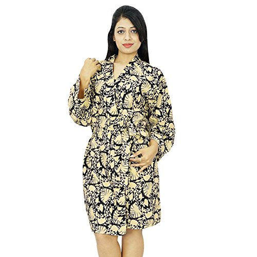 Les Femmes Portent Obtenir Robe De Coton Demoiselle Robes Noir et beige