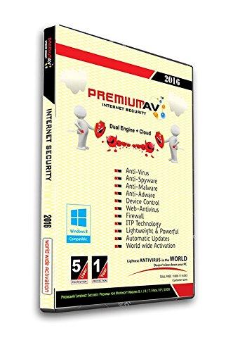 PremiumAV Internet Security 2016 - 5 User 1 Year (CD)