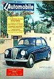 AUTOMOBILE (L') [No 85] du 01/05/1953 - sports et tourisme - le nouveau moteur revolutionnaire a air chaud - a quelle vitesse vous risquez de capoter - comment recuperer vos dommages - nouveautes du salon de turin - la lancia appia...
