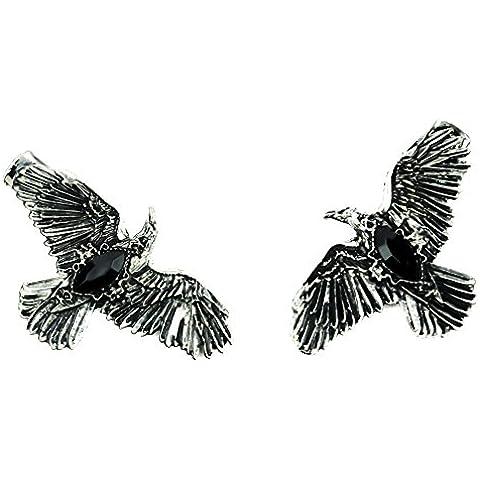Black Stone Gothic Ravens Hair Clips Deathrock