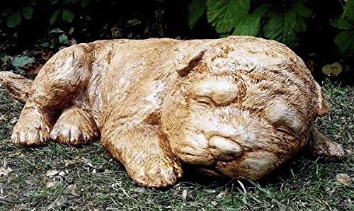 Grande pierre de couchage pour chien – Chiot Statue/Sculpture Adorable \