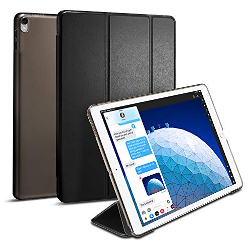 Spigen Smart Fold Entwickelt für iPad Air 3 Hülle (10,5 Zoll 2019), iPad Pro 10,5 Hülle (2017) - Schwarz