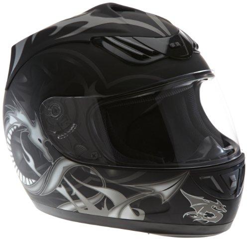 Protectwear casco de moto negro mate del dragón H-510-11-SW Tamaño XL
