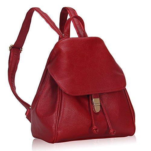 Imagen de veevan  bolso de escuela de las mujeres del bolso de la muchacha de piel sintética rojo  alternativa