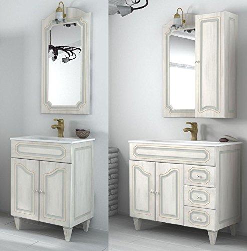 Mobile arredo bagno caravaggio arte povera decapè misure da 90 cm lavabo ceramica mobili