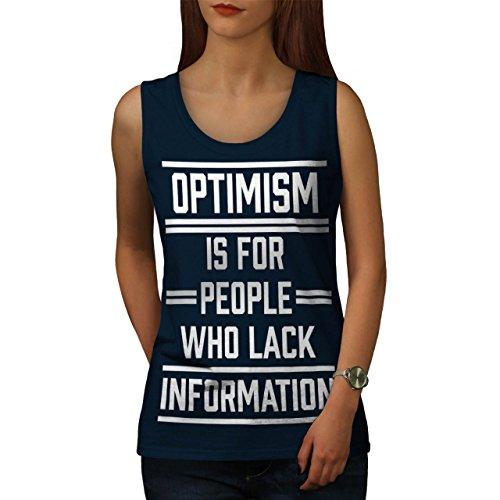 Optimismus Sarkasmus Komisch Pessimismus Damen Schwarz S-2XL Muskelshirt |  Wellcoda Marine