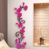 MORESAVE Rose Flower Acrylic 3D Wall Sticker Home Room TV Decor DIY - Moresave - amazon.co.uk
