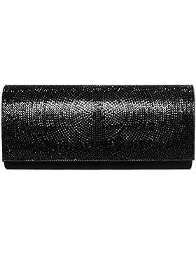 CASPAR TA325 Damen elegante Strass Glitzer Clutch Tasche / Abendtasche