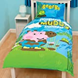 PEPPA PIG GEORGE KIDS BOYS REVERSIBLE SINGLE DUVET QUILT COVER BEDDING SET NEW