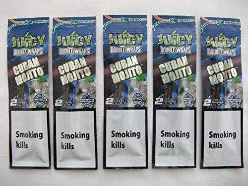 Trendz JUICY DOUBLE WRAPS–Set di 5 confezioni da 2 sigari cubani, aroma mojito