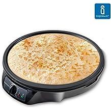 Aigostar Moabit 30CES - Máquina para hacer crepes, tortitas, tortillas con 1000W. Antiadherente. Garantía de calidad.