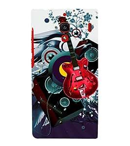 printtech Guitar Music Abstract Back Case Cover for Xiaomi Redmi 1S::Xiaomi Redmi (1st Gen)