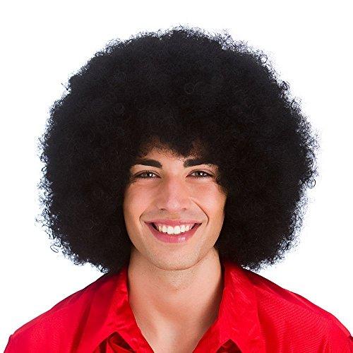 Riesiger Locken Afro Halloween Verkleidung Karneval Perücke Haare (Afro Jumbo Perücke)