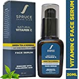 Spruce Shave Club Vitamin C Face Serum with Hyaluronic Acid, Green Tea