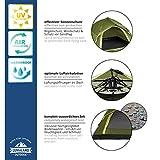 Lumaland Outdoor leichtes Pop Up Wurfzelt 3 Personen Camping robust verschiedene Farben Grün - 5