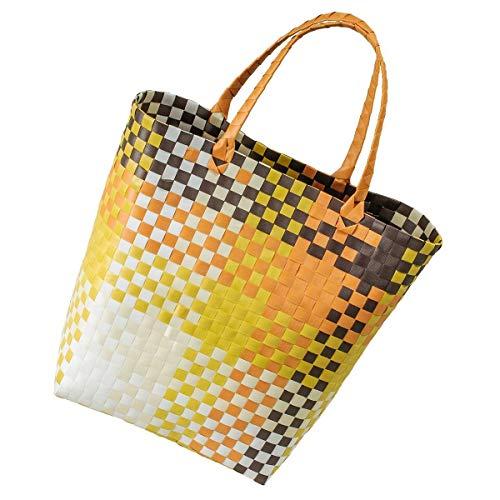 LaFiore24 Grosser Shopper Einkaufstasche Einkaufskorb Bade-Strandtasche abwaschbar 42x16 H.40/60cm Orange-Mehrfarbig