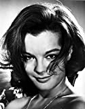 The Poster Corp Romy Schneider Smiling in Black and White Portrait Photo Print (20,32 x 25,40 cm)