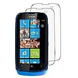 Lot Pack 2 Films de protection d'écran clear transparent pour Nokia Lumia 610