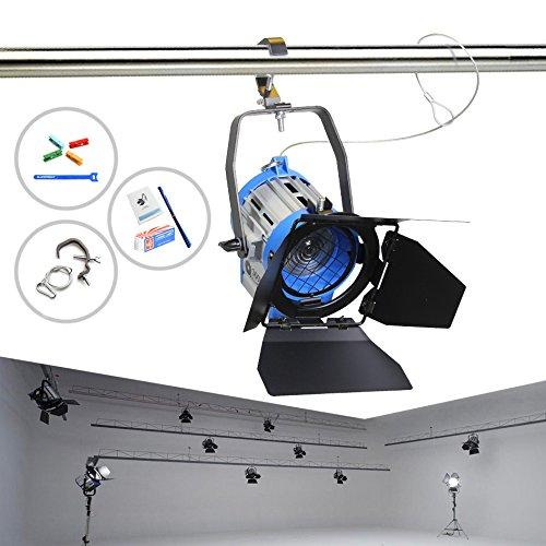 Alumotech 300 Watt Pro Film Fresnel Tungsten Strahler Beleuchtung Studio Video + Birne + Barndoor Barndoor Arri