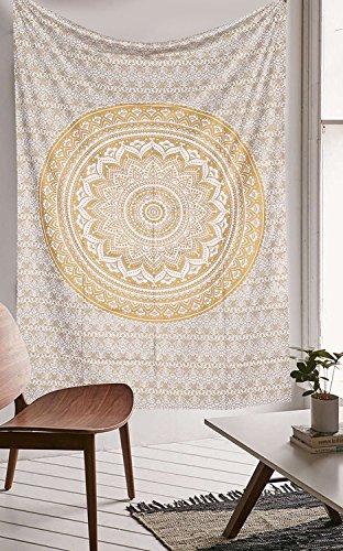 indian-hippie-tie-dye-ombre-mandala-wall-art-golden-twin-size-tapestry-wand-aufhangen