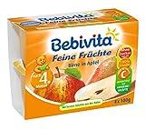 Bebivita Feine Früchte Birne in Apfel, 4 Becher, 4 x 100 g