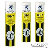 Auprotec® Normfest Mehrzweckfett BG-Y Schmierfett Schmierstoff Mehrzweck Multi Fett gelb (3 Kartuschen)