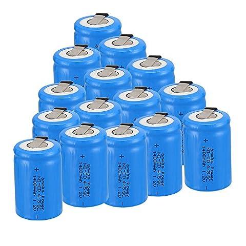 Anmas Power 4/6/10/12/15pcs Ni-Cd 4/5Subc 1.2V 1400mAh batterie rechargeable avec Tab