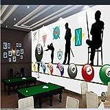 Hhcyy Papel pintado Rollos De Papel De Pared Del Billar Club 3D Wallpaper Para Walls Bar Internet Cafe Tooling Wall Murales 3D Fondos DePantallaFondos DePantalla-350cmx245cm