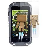 atFolix Bildschirmfolie für Simvalley-Mobile SPT-210 Spiegelfolie, Spiegeleffekt FX Schutzfolie