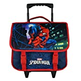 CARTABLE A ROULETTES 38CM BLEU MARINE-SPIDERMAN MARVEL