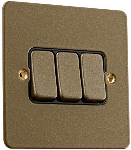 MK Edge k14373dbzb 10A 2-Wege-Triple Switch Single Pole-Desert Bronze -