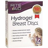 12 Discos de lactancia de hidrogel, ayuda a curar los pezones doloridos y agrietados, de Rite Aid