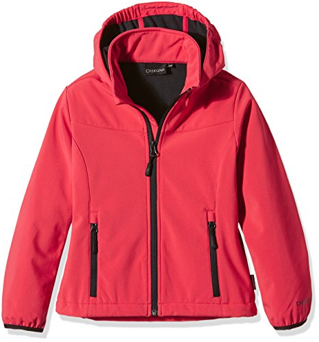 disegna-softshell-girls-jacket-red-campari-size17-years