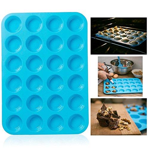 Itian Stampi en Silicone per 24 Muffin - Riutilizzabile, Antiaderante