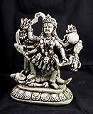 Krishna Mart India Mano Tallada Meditating hindú Diosa Kali Resina Idol Escultura Estatua tamaño 6'x 4.4'