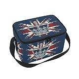 Alaza Britische Flagge mit Isolierte Lunchtasche mit Kühltasche, wiederverwendbar Handtasche,...
