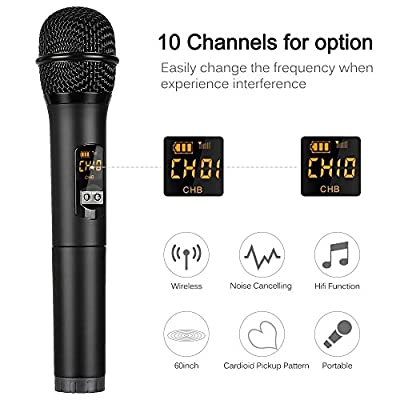 Wireless Microphone Mbuynow Microphone Dynamic Handheld Microphone With Bluetooth for Karaoke Party Church