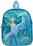 Disney Frozen 2 Mochila Infantil De Elsa para Niñas Azul Brillante El Reino del Hielo Cole Preescolar o Guardería, Mochilas Disney Escolares Juveniles, Regalos para Niñas