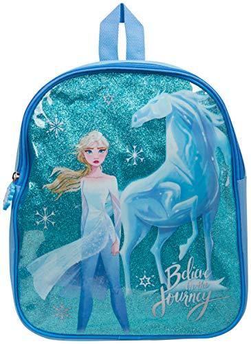 Disney Frozen 2 Zaino Asilo, Zainetto Medio per Bambini Con Principessa Elsa, Zaino Scuola Prima Elementare o da Viaggio, Borsetta Bambina Il regno di ghiaccio, Regalo Bambina 3-12 Anni