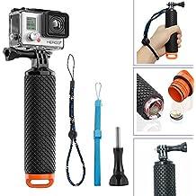 Palo Selfie Flotador, Homeet GoPro Palo de Mano Impermeable Deporte Acuático Monopod de Buceo para GoPro Hero 5/4/3+/3/2/ SJCAM SJ4000/SONY HDR/Garmin Virb XE/Xiaomi Yi/DBPOWER (Naranja)