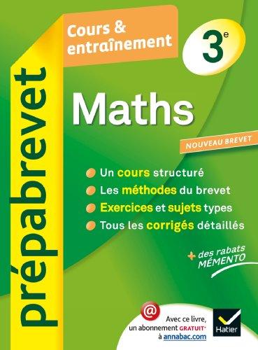 Prepabrevet Cours ET Entrainement: Maths 3e par Josep Cesaro, C M Chiocca, Jean-Pierre Gerbal, Noel Laverny, Catherine Schuwer, Rene Veillet