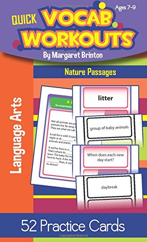 Quick Vocab Workouts Practice Cards: Nature Passages