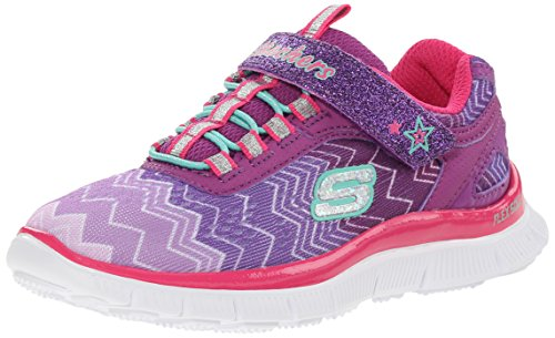Skechers SKECH APPEAL- ZIGGY ZAG, Girls' Sneakers, Purple (PRNP), 2 UK
