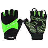 Delong Cycling Gloves Fingerless CG-22 Microfiber
