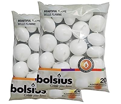 Bolsius Floating Candles x 40 in White by Bolsius (UK) Ltd