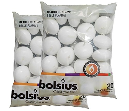 BOLSIUS 20 FLOATING CANDLES [White] x 2